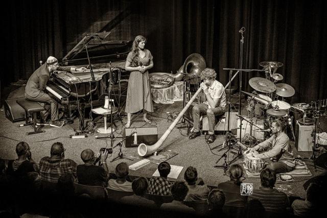 David Helbock Quartett, Filippa Gojo, Johannes Bär, Bodek Janke - Foto Frank Schindelbeck