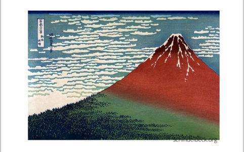 Hokusai Red Fuji japanischer Holzschnitt Reproduktion