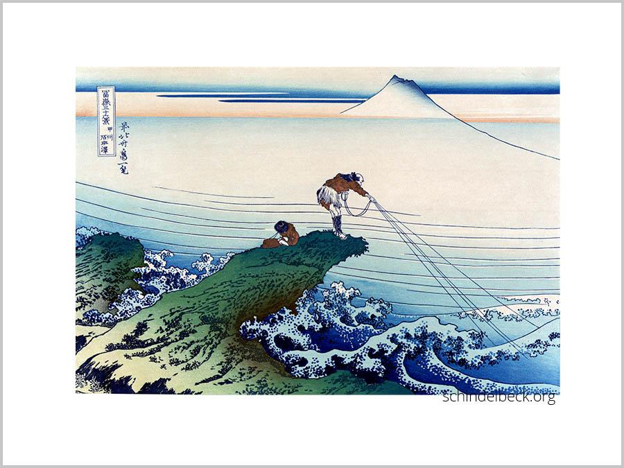 Hokusai Fischer japanischer Holzschnitt