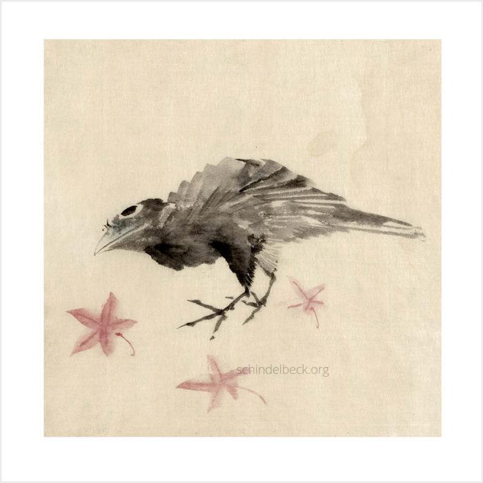 Katsushita Hokusai Bird Vogel - Hochwertige Reproduktion auf Hahnemühle Fotopapier