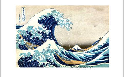 Hokusai Welle Kanagawa japanischer Holzschnitt Reproduktion